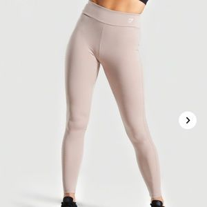 Gymshark Laser Cut Tights in Taupe NWT Size Small